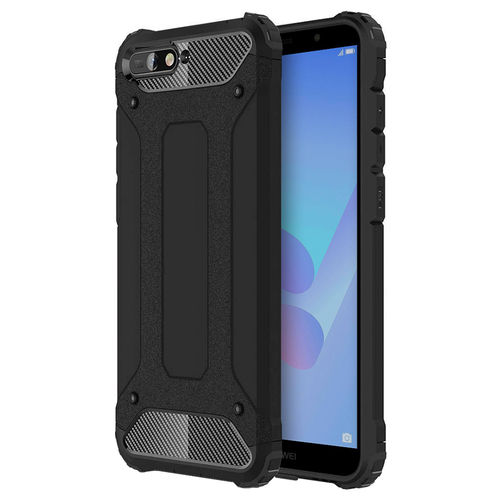 Military Defender Shockproof Case for Huawei Y6 (2018) - Black